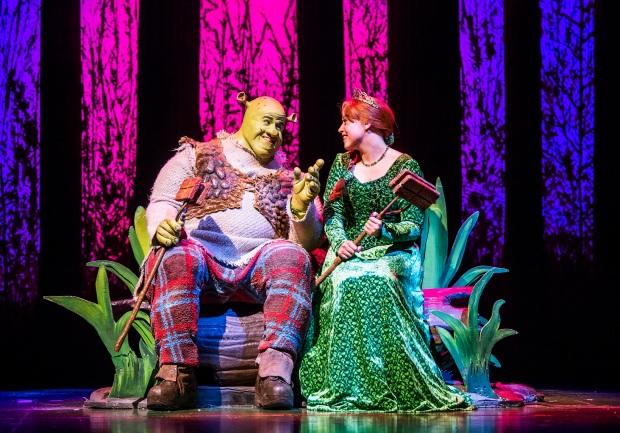 Steffan-Harri-and-Amelia-Lily-in-Shrek-the-Musical-UK-and-Ireland-tour-2018.-Credit-Tristram-Kenton.-3